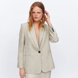 NEW Zara linen blazer